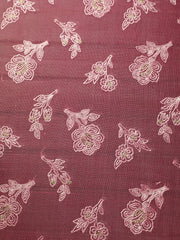 Signoraa Pink Organza Silk Unstitched Fabric-PMT011002 - View 2