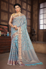 SIGNORAA BLUE KOTA SAREE-KTJ03214 - VIEW 1