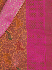 SIGNORAA PEACH BANARASI SILK SAREE-BSK06915 - Product View