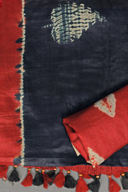 SIGNORAA NAVY BLUE TUSSAR SILK SAREE-PTS04330 - PRODUCT VIEW
