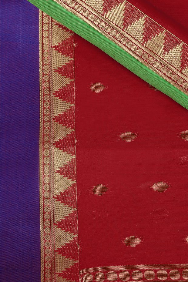 SIGNORAA RED SILK COTTON SAREE-CCC01431B - PRODUCT VIEW