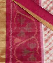 SIGNORAA OFF-WHITE HANDLOOM SILK COTTON SAREE-CCC01416 - PRODUCT VIEW