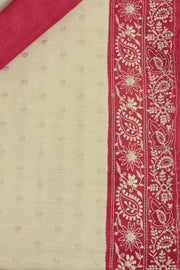 SIGNORAA OFF-WHITE TUSSAR SILK SAREE-EMB02827 -PRODUCT VIEW