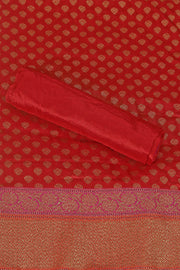 SIGNORAA  RED BANARASI SILK SAREE-BSK07581B - Product View