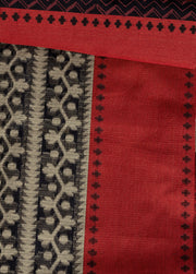 SIGNORAA BLACK FANCY BANARAS COTTON SAREE-FCT08754 - product View