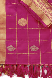 SIGNORAA PALE PINK KANCHIPURAM SOFT SILK SAREE-KSL02479 - Product View