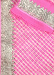 SIGNORAA PINK GEORGETTE SILK SAREE-EMB02811 -PRODUCT VIEW