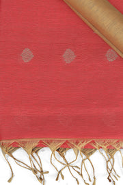 SIGNORAA TOMATO RED LINEN SAREE-KSL02497 - Product View