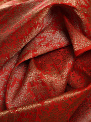 Signoraa Rani Pink Banarasi Pure Silk Unstitched Fabric-PMT011416-View 2