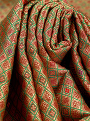 Signoraa Green Banarasi Silk Unstitched Fabric-PMT011471-View 3