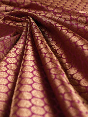 Signoraa Purple Banarasi Pure Silk Unstitched Fabric-PMT011037-View 1