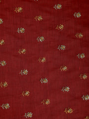 Signoraa Pink Chanderi  Unstitched Fabric-PMT010886 - View 2