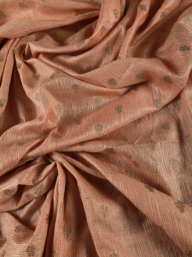 Signoraa  Light Pink Banarasi Dupion Silk Unstitched Fabric-PMT011641- View 2