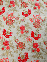Signoraa Beige Cotton Unstitched Fabric-PMT010383 - View 3