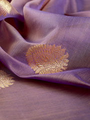 Signoraa Mauve Banarasi Silk Cotton Unstitched Fabric-PMT011318- View 2