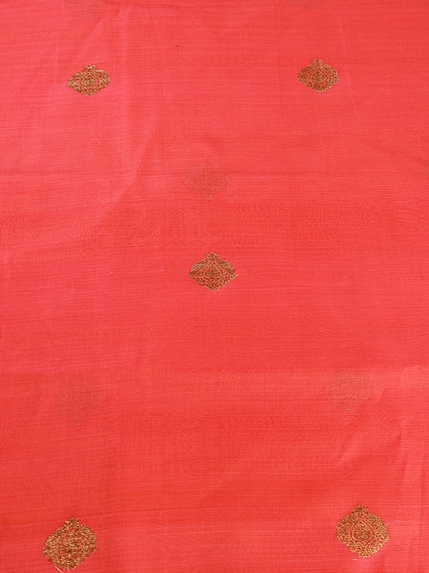Signoraa Shot Pink Kora Cotton Unstitched Fabric-PMT011420- View 3