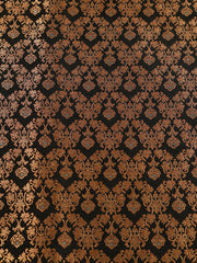 Signoraa Black Banarasi Silk Unstitched Fabric-PMT010923-View 3