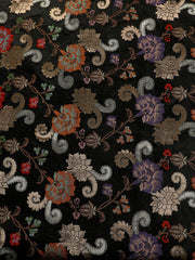 Signoraa Black Banarasi Unstitched Fabric-PMT011621- View 2
