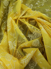 Signoraa Yellow Cotton Unstitched Fabric-PMT010887- View 2