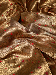 Signoraa Beige Banarasi Silk Unstitched Fabric-PMT010908 - View 2
