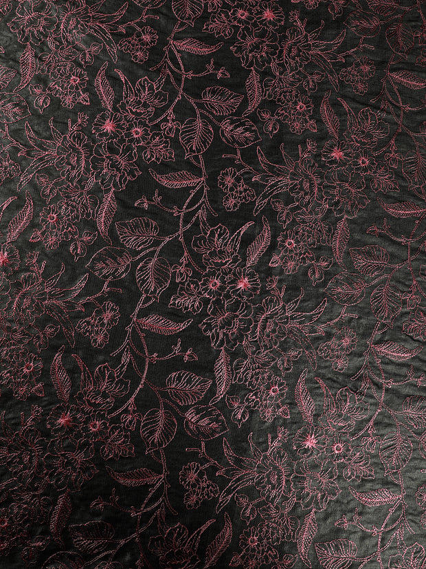 Signoraa Grey Tussar Silk Unstitched Fabric-PMT010857- View 3