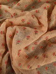 Signoraa Peach Linen Unstitched Fabric-PMT010806- View 2
