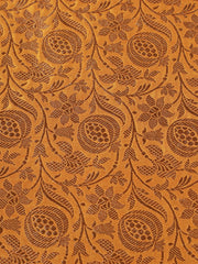 Signoraa Mustard Banarasi Pure Silk Unstitched Fabric-PMT011418- View 3