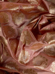 Signoraa Onion Pink Banarasi Silk Unstitched Fabric-PMT010042- View 2