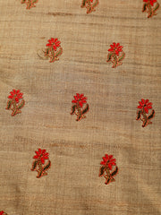 Signoraa Beige Tussar Silk Unstitched Fabric-PMT010810-View 3
