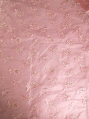 Signoraa Pink Organza Silk Unstitched Fabric-PMT011002 - View 3