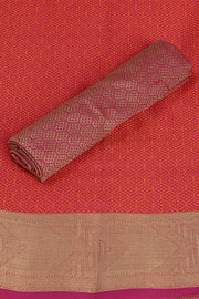 SIGNORAA RED SILK COTTON SAREE-CCC01455 - PRODUCT VIEW