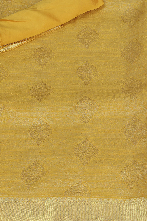 SIGNORAA MUSTARD CREPE SILK SAREE-CHG03454- PRODUCT VIEW