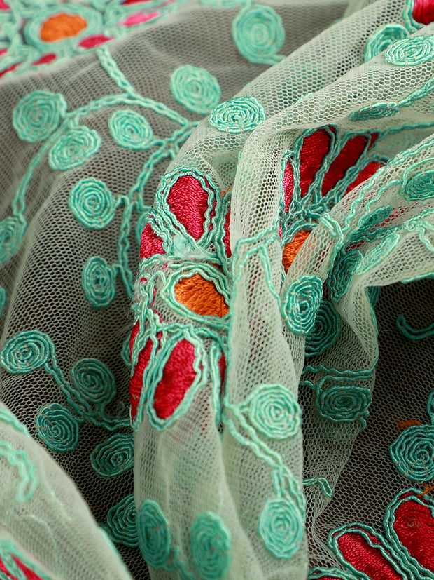 Signoraa Green Net Unstitched Fabric-PMT05059 - View 2