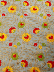 Signoraa Beige Cotton Unstitched Fabric-PMT010380- View 3