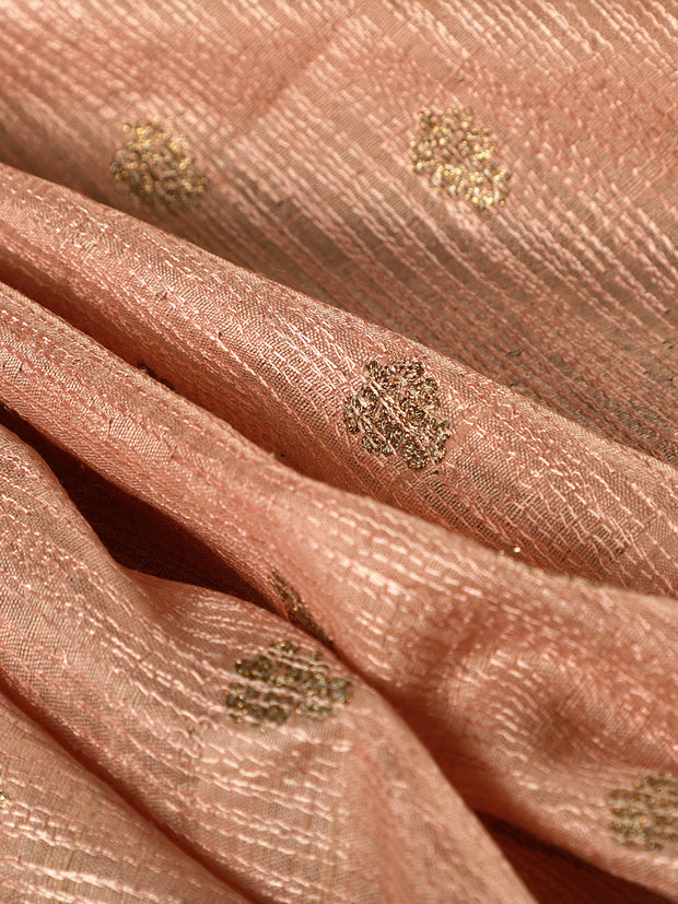 Signoraa  Light Pink Banarasi Dupion Silk Unstitched Fabric-PMT011641- View 1