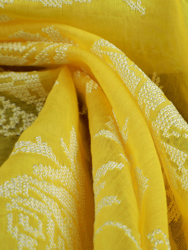Signoraa Yellow Cotton Unstitched Fabric-PMT010887-View 1