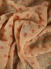 Signoraa Peach Linen Unstitched Fabric-PMT010806- View 3