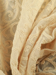 Signoraa Cream Chanderi Unstitched Fabric-PMT011280-View 1