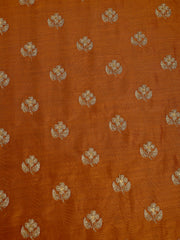Signoraa Mustard Chanderi Unstitched Fabric-PMT011263- View 3