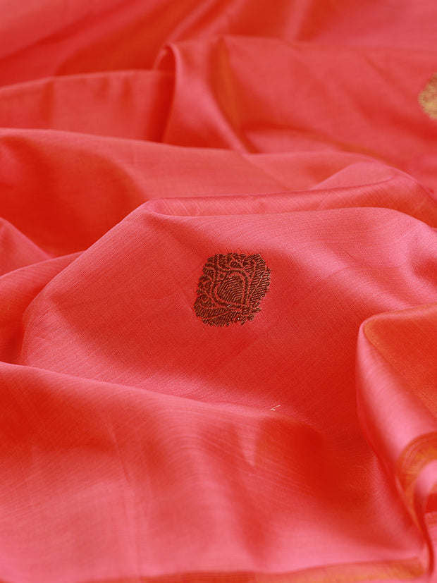 Signoraa Shot Pink Kora Cotton Unstitched Fabric-PMT011420- View 2
