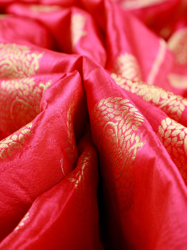 Signoraa Pink Banarasi Pure Silk Unstitched Fabric-PMT011171-View 1