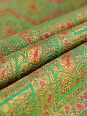 Signoraa Sea Green Banarasi Silk Unstitched Fabric-PMT011615- View 1