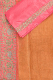 SIGNORAA PEACH TISSUE KOTA SAREE-EMB02668 -PRODUCT VIEW