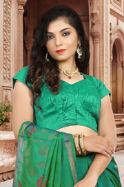 SIGNORAA SEA GREEN UPPADA SILK SAREE-OPD01518 B-View2