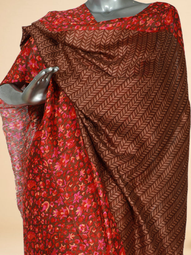 Signoraa Brown Jute Tussar Unstitched Salwar Suit-SMS06827- View 2
