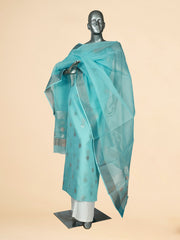 Signoraa Light Blue Kota Cotton Unstitched Salwar Suit-SMS08148- View 1