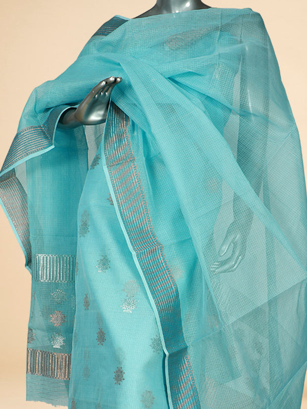 Signoraa Light Blue Kota Cotton Unstitched Salwar Suit-SMS08148- View 2