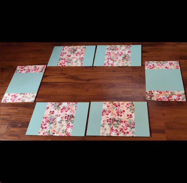 Leatherette Laser Cut Table Mats - Set of 6 mats -View 2