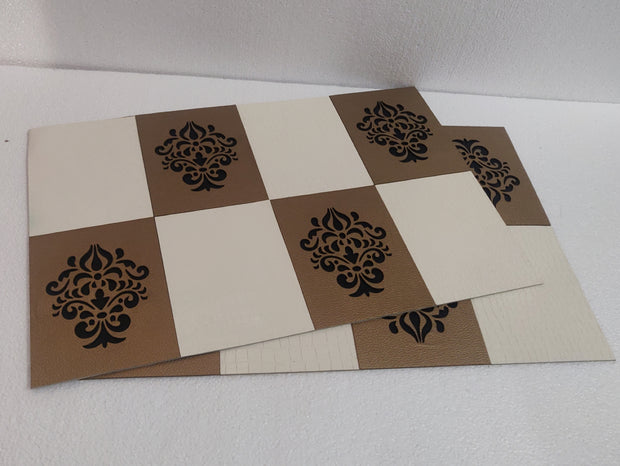 Leatherette Laser Cut Table Mats - Set of 6 mats -View 6