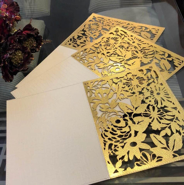 Leatherette Laser Cut Table Mats - Set of 6 mats View 9